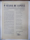 O Geana de lumina , Revista liceului Gh. Lazar, Anul I , Nr. 1 Decembrie 1933