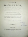 Odes D'Anacreon, Paris 1798