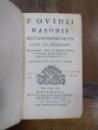 P. Ovidii Nasonis, Metamorphoseon, libri XV, Rotomagi  (Ruen) 1717