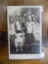 Petrache Lupu de la Maglavit cu sotia si copilul, fotografie originala