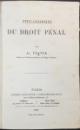 PHILOSOPHIE DU DROIT PENAL - PARIS 1864