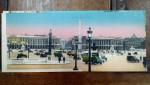 Place de la Concorde, Carte postala ilustrata dubla
