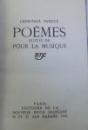 POEMES suivis de  POUR LA MUSIQUE par LEON  - PAUL FARGUE , 1919