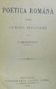 POETICA ROMANA PENTRU CURSUL SECUNDAR de I. MANLIU  1890