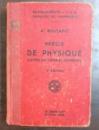PRECIS DE PHYSIQUE D`APRES LES THEORIES MODERNES par A. BOUTARIC , 1938