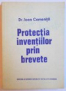 PROTECTIA INVENTIILOR PRIN BREVETE de IOAN CAMENITA , 1977