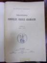 PUBLICATIILE FONDULUI ADAMACHI TOMUL V  1910-1913, BUCURESTI 1913