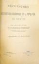 Recherches sur la distribution geografique de la population  en Valachie , EMMANUEL MARTONNE, dedicatie, BUCURESTI/PARIS 1903