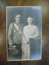 Regele Alexandru I si Regina Marioara, foto originala tip CP