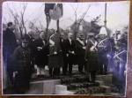REGELE CAROL AL II-LEA ȘI ION MIHALACHE ALATURI DE ALTE PERSONALITATI POLITICE . FOTOGRAFIE ORIGINALA DIN 1939