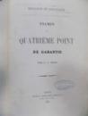 Religion el Politic de quatrieme point de garantie, General Gheorghe Manu, Paris 1856 cu dedicatia autorului