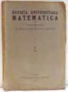 REVISTA UNIVERSITARA MATEMATICA par RODOLPHE RACLIS , 1929