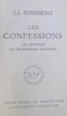 ROUSSEAU, LES CONFESSIONS REVERIES DU PROMENEUR SOLITAIRE , 1951