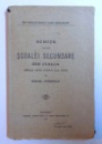 SCHITA ASUPRA SCOALEI SECUNDARE DIN ITALIA ( DELA 1859 PANA LA 1919 ) de ANGHEL MARINESCU , 1921