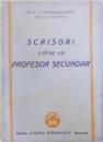 SCRISORI CATRE UN PROFESOR SECUNDAR de I. SIMIONESCU , EDITIA I , 1944