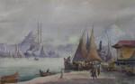 Serif Renkgorur (1887-1947) - Vedere port Istambul