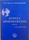 STIINTA ADMINISTRATIEI, EDITIA A II-A de CORNELIU MANDA, 2004