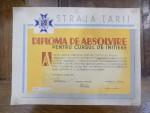 Straja tarii, Diploma de absolvire, 20 Octombrie 1937