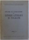 STUDII SI CERCETARI DE ISTORIE LITERARA SI FOLKLOR , ANUL II , 1953