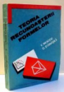 TEORIA RECUNOASTERII FORMELOR de V. NEAGOE , O. STANASILA , 1992 , DEDICATIE*