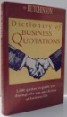 THE HUTCHINSON , DICTIONARY OF BUSINESS QUOTATIONS , 1996