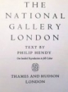 THE NATIONAL GALLERY, LONDON by PHILIP HENDY ,1958