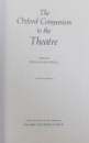 THE OXFORD COMPANION TO THE THEATRE , edited by PHYLLIS HARTNOLL , 1988