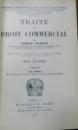 TRAITE DE DROIT COMMERCIAL par CESARE VIVANTE , TOME III , 1911
