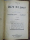 Tratat de drept civil roman, C. Hamangiu, Vol I, Bucuresti 1928