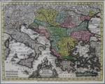 Weyerman, Jacob Christoph, Novissima Tabula Danubii - Harta Dunarii 1744