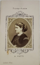 A. PATTI , FIGARO ALBUM , D 'APRES LIEBERT  PHOT. , FOTOGRAFIE TIP C.D.V. , 1870