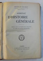 ABREGE D ' HISTOIRE GENERALE par CHARLES RICHET , 1922