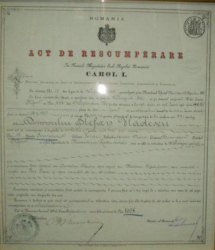 Act de Rascumparare Carol I, Bucuresti 1886