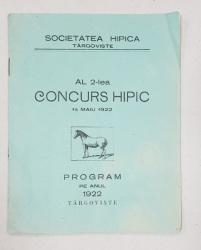 AL 2-lea CONCURS HIPIC - TARGOVISTE, 1922