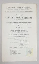 AL 4-LEA CONCURS HIPIC NATIONAL, PROGRAM OFICIAL - 1914