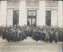 AL III lea CONGRES AL SCOALELOR DE AGRICULTURA - FOTOGRAFIE DE GRUP, 1908