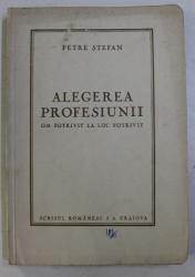 ALEGEREA PROFESIUNII - OM POTRIVIT LA LOC POTRIVIT - de PETRE A. STEFAN