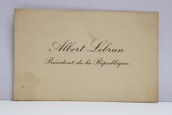 ALFRED LEBRUN , PRESEDINTE AL FRANTEI 1932 - 1940 , CARTE DE VIZITA