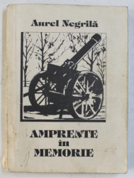 AMAPRENTE IN MEMORIE ( ROMAN AUTOBIOGRAFIC ) de AUREL NEGRILA , 1994