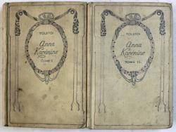 ANNA KARENINE par LEON TOLSTOI , TOME I - II , EDITIE INTERBELICA