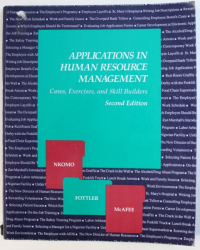 APPLICATIONS IN HUMAN RESOURCE MANAGEMENT  - CASES , EXERCISES  AND SKILL BUIDERS by STELLA  M. NKOMO ...R. BRUCE MCAFEE , 1991
