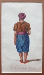 Servitor arab - Gravura colorata