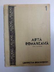 ARTA ROMANEASCA DIN OLTENIA , VOL. I  de LUCRETIA BRANCOVICI, CONTINE HALOURI DE APA