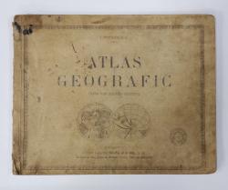 ATLAS GEOGRAFIC PENTRU UZUL SCOALELOR SECUNDARE de I. POPA - BURCA , 1924