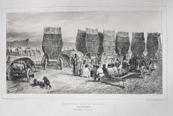 Auguste Raffet (1804-1860) - Stationarea unei caravane moldave