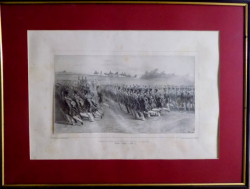 AUGUSTE RASETT - INFANTERIE VALAHA DEFILAND , BUCURESTI 16 IUNIE 1837
