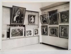 AUREL BAUH - FOTOGRAFIE DIN EXPOZITIA  PICTORULUI IOSIF ISER   , DATATA  PE VERSO 1945
