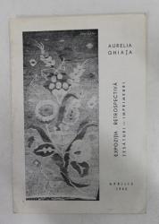 AURELIA GHIATA - EXPOZITIE RETROSPECTIVA , TESATURI - IMPRIMEURI , APRILIE 1965