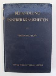 BEHANDLUNG INNERER KRANKHEITEN von FERDINAND HOFF , 1940 , PREZINTA SUBLINIERI CU CREIONUL *
