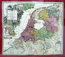 BELGII PARS SEPTENTRIONALIS communi nomine Vulgo HOLLANDIA nuncupata par JO. BAPTISTA HOMANN - Harta cca.  1700